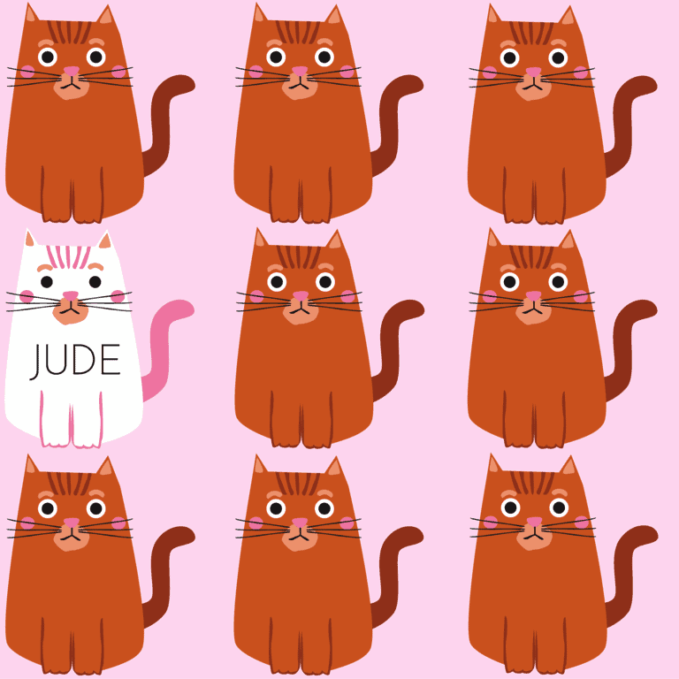 Jude Kitties repeating pattern