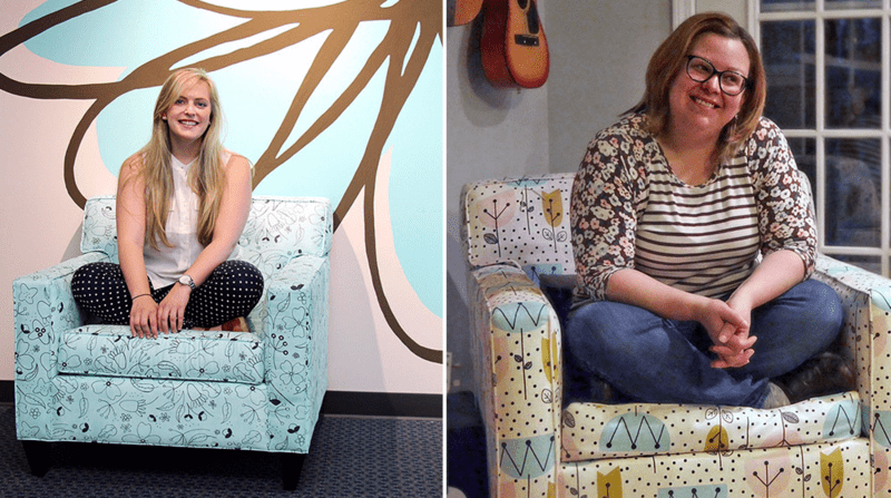 Winners of the Employee Design Challenge receive a chair upholstered in their custom design!