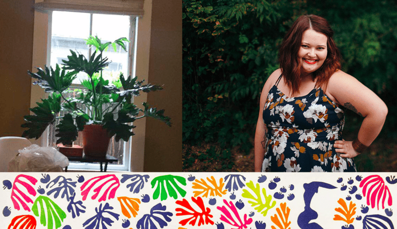 Nicole drew inspiration for her Design Challenge entry from her house plants as well as artist, Matisse.