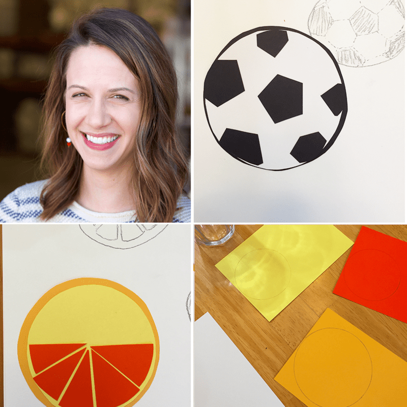 Oranges and soccer balls helped inspire Suz's paper cutout design for the 2016 Spoonflower Employee Design Challenge!