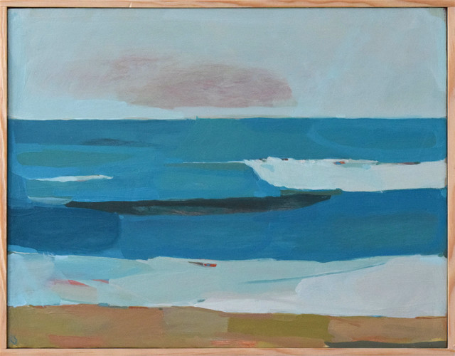 Sky, sea, sand painting by Karen Smidth