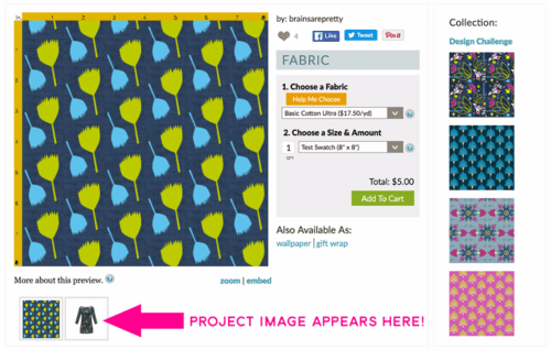 send your project images on Sprout directly over to Spoonflower