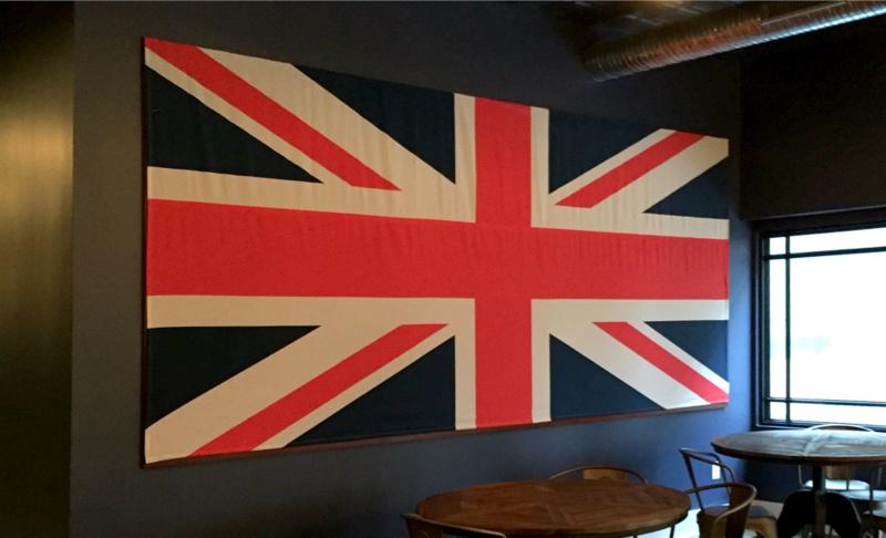 The finished flag photo backdrop