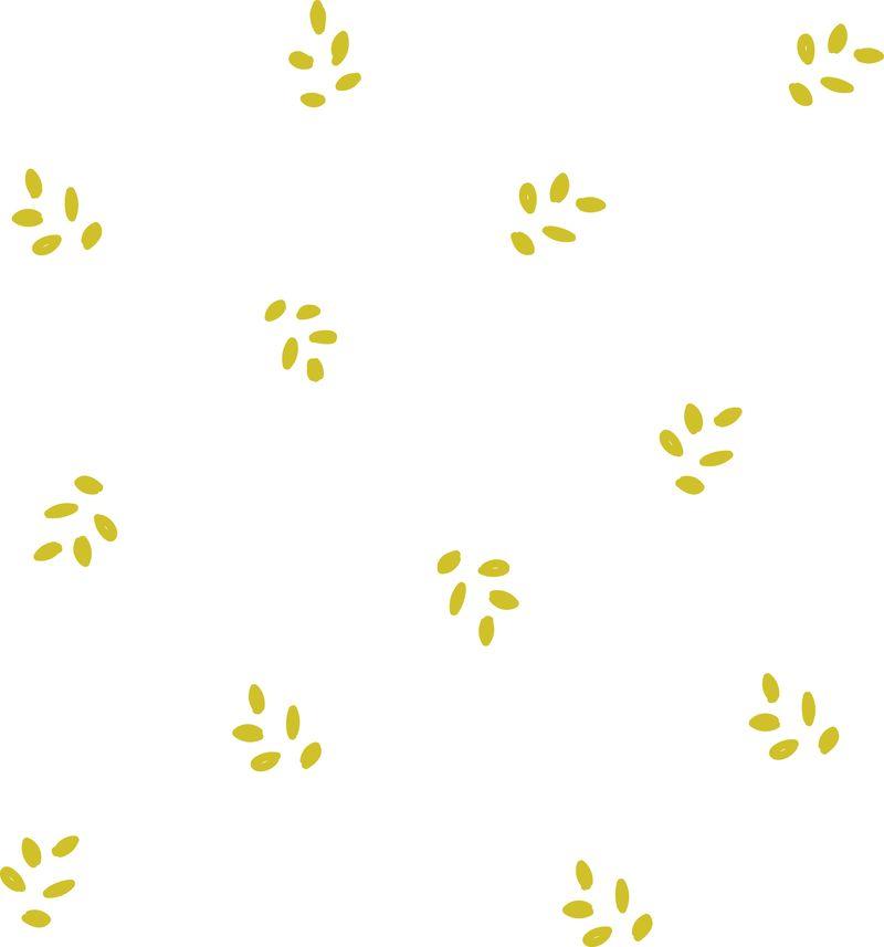Golden leaves pattern