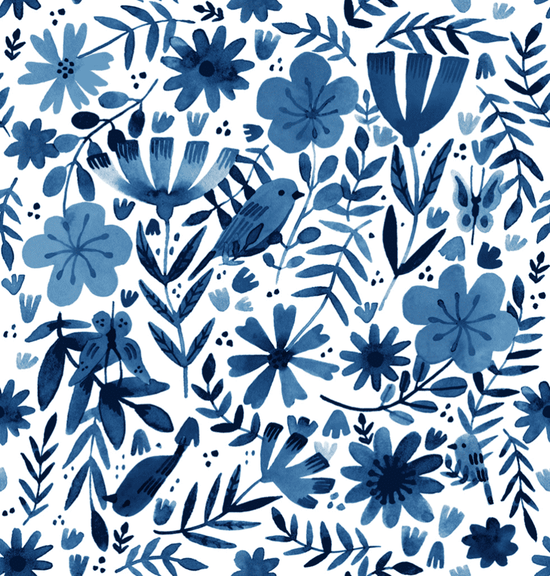 Floral Birds by Abigail Halpin, free to download