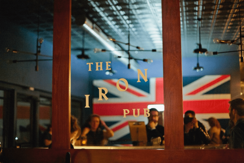 The Iron Pub entrance