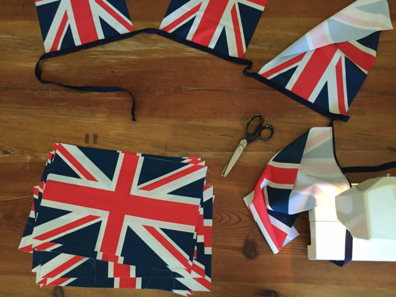 Bonus bunting from extra flags