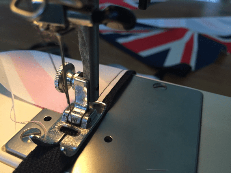 Keep it simple! No need to hem bunting flags