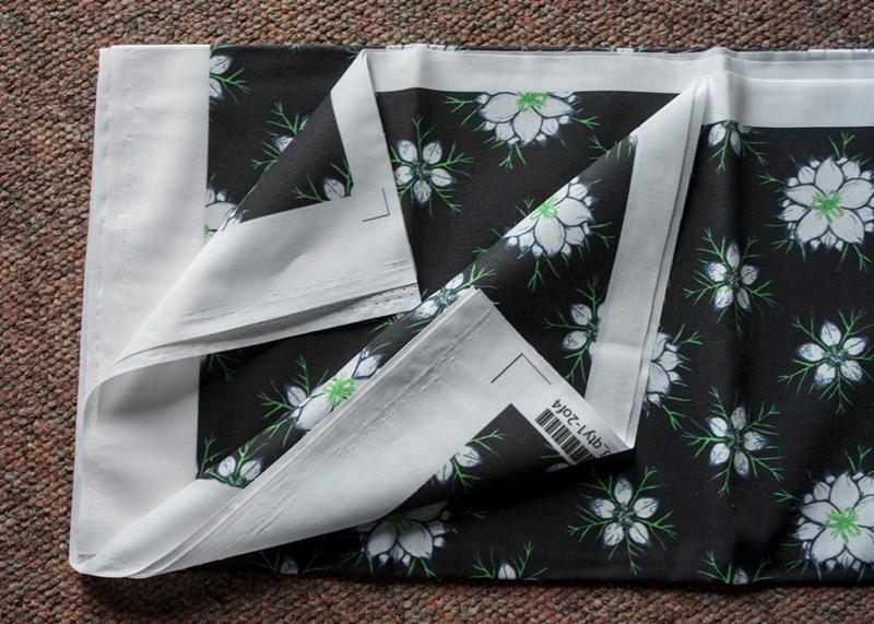 1 b - the printed waste from Spoonflower fabric scrap rag rug