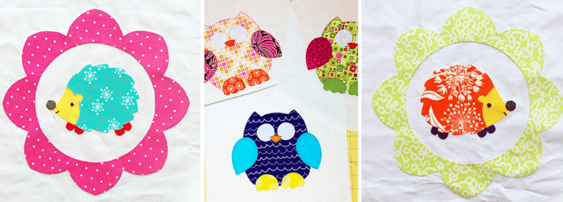 Animal quilt squares are ready to be added to a Siblings Together quilt!