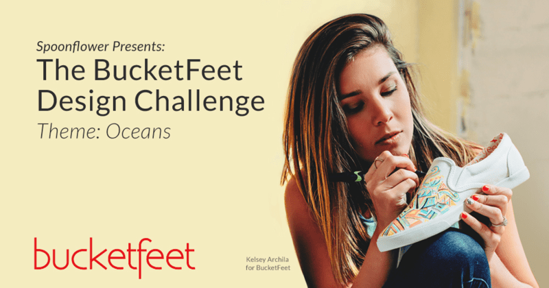 Spoonflower presents the BucketFeet Design Challenge | theme: Oceans