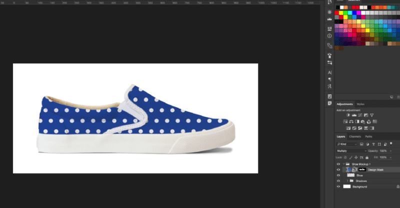 download the Bucketfeet shoe template Photoshop file