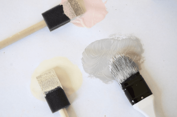 small sponge paint brushes work great for corners and small sapces