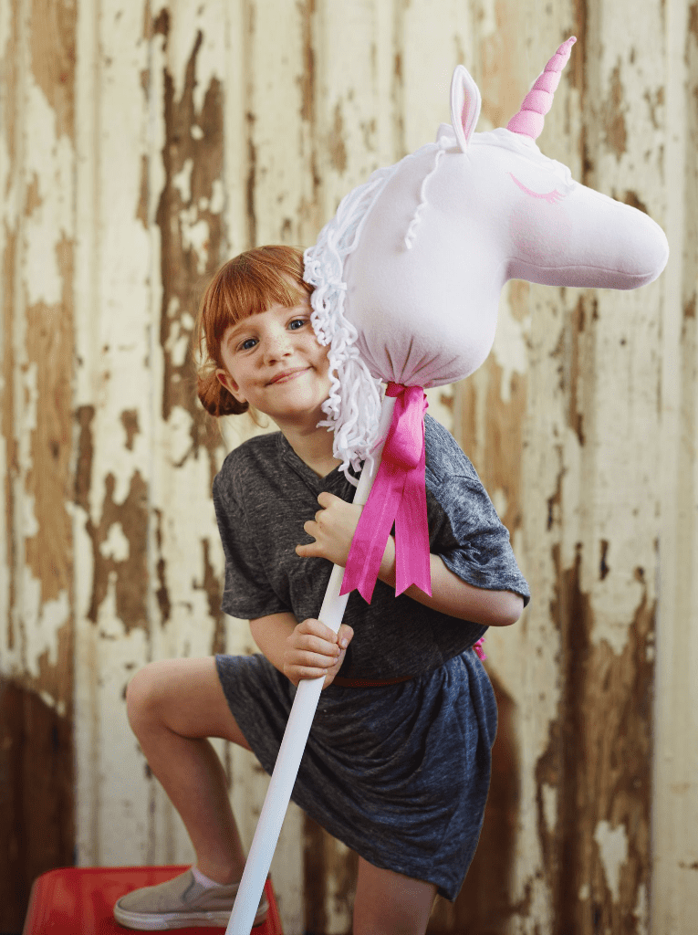 Learn to make a Unicorn Hobby Horse with Spoonflower's New Fleece