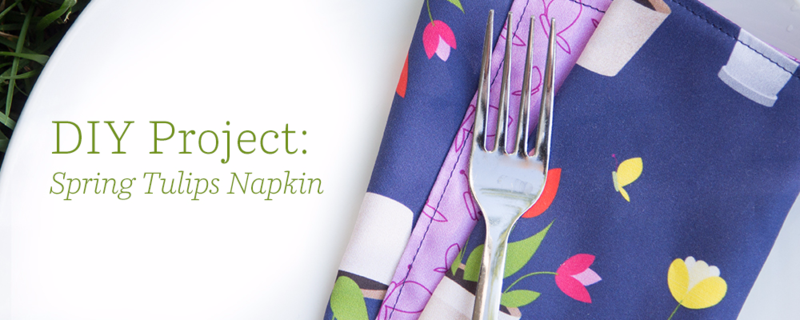DIY Project: Spring Tulips Napkin from Spoonflower