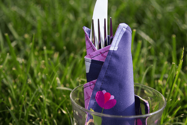 Take May's DIY Napkin Project on a picnic!