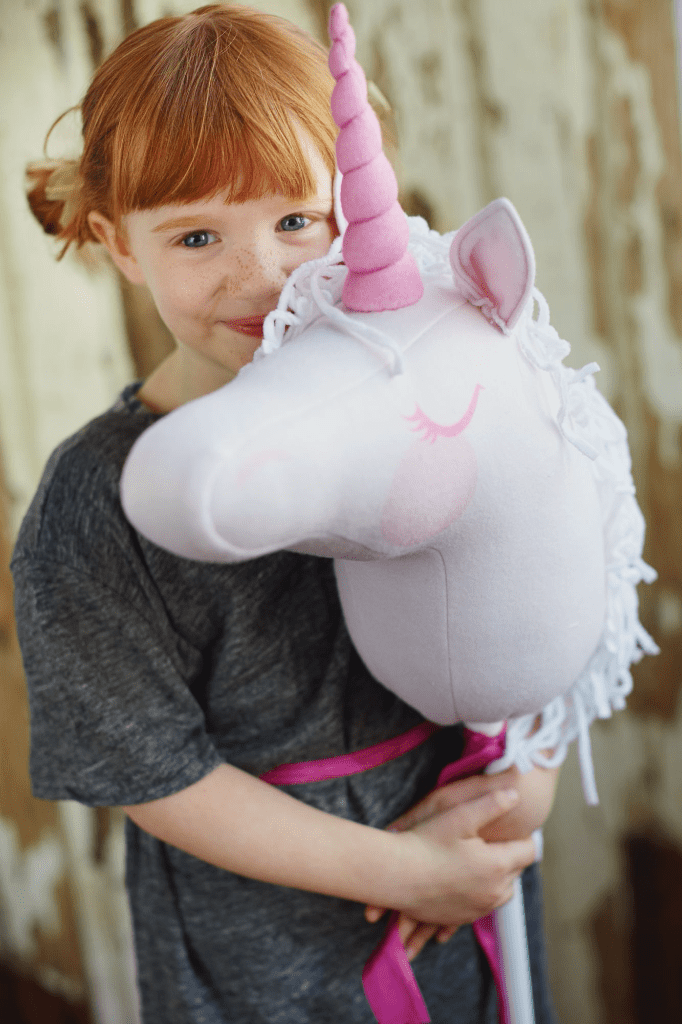 Lia Griffith and Spoonflower are partnering to bring you an extra magical Unicorn Hobby Horse tutorial! All it takes is one yard of Fleece
