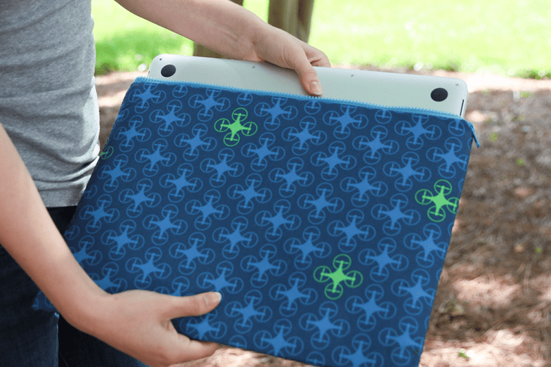 Finished quad copter laptop case