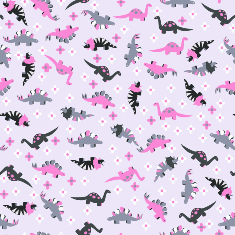 Ditsy Pink Dinosaur Floral submitted by @pamelachi