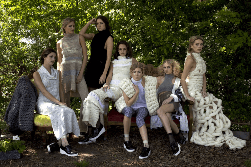 Group shot of the Art2Wear collection designed by Susan Stephens