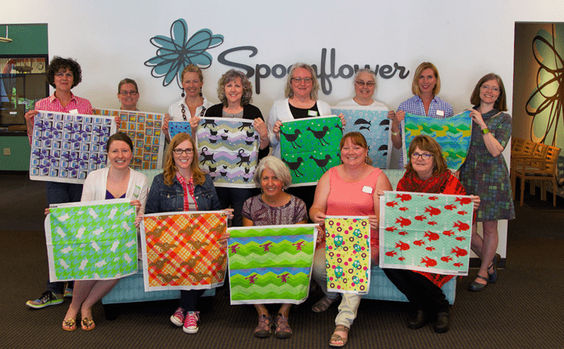 Spoonflower master class students show off their designs created over the weekend