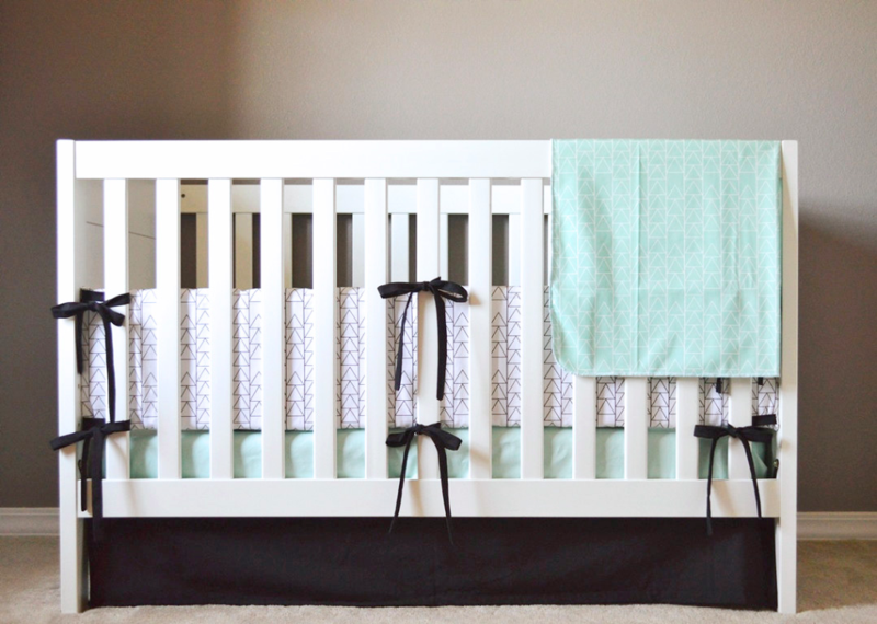 ModFox crib bedding and blanket