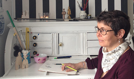 Spoonflower designer Liss Stender in Greenland