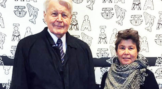 Spoonflower designer Liss Stender (livaurora) and president of Greenland
