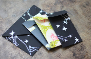 create your own envelopes with product details, care instructions, thank you notes or receipts