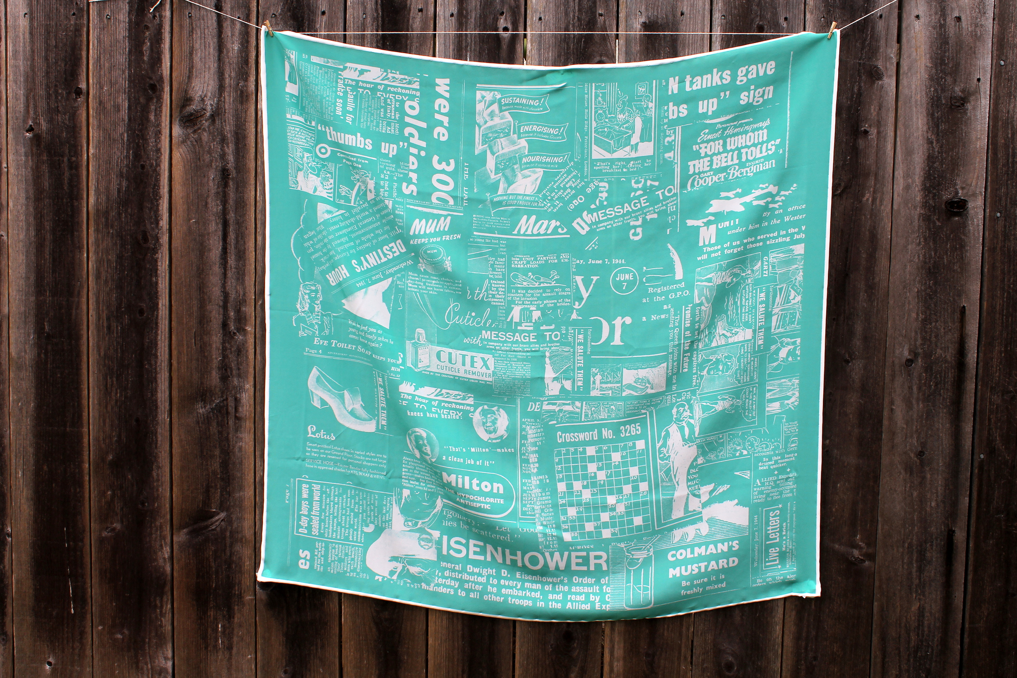 DIY Silk Scarf From Newspaper Clippings | Spoonflower Blog