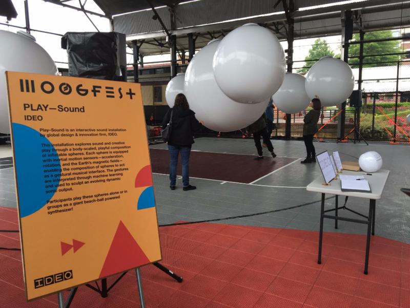 Moogfest Interactive Sound Exhibit in Durham