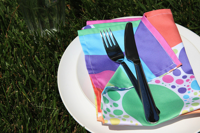 June is pride month! Celebrate with rainbow DIY napkins