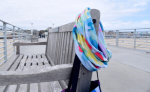 Castro Abstract infinity scarf