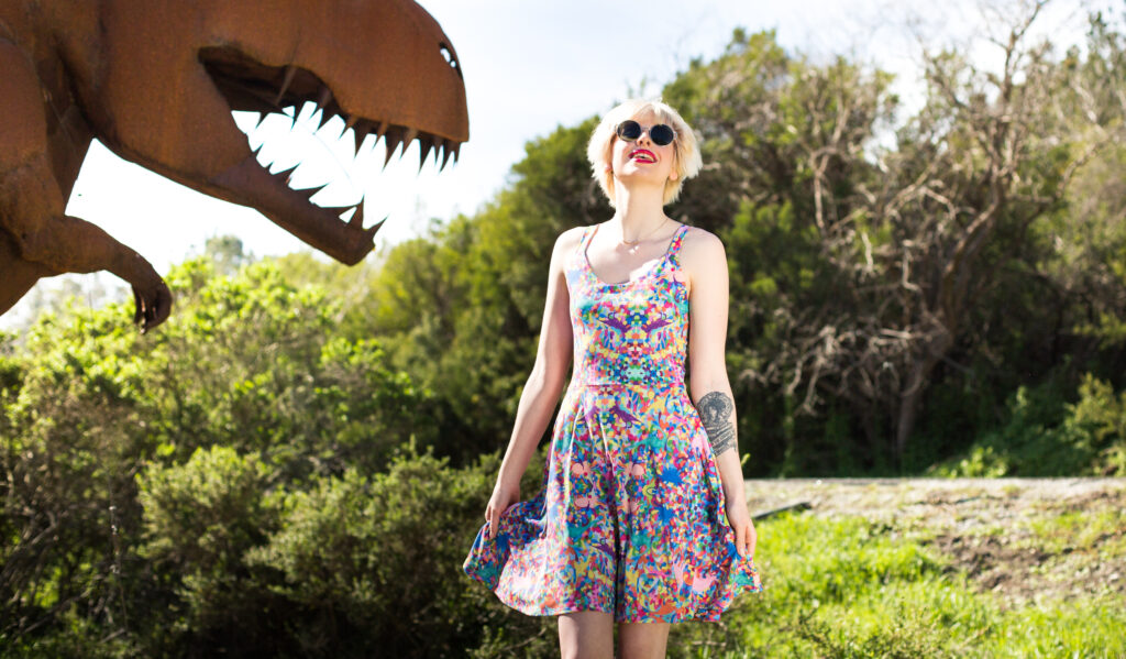 Hiding-Dino Sundress