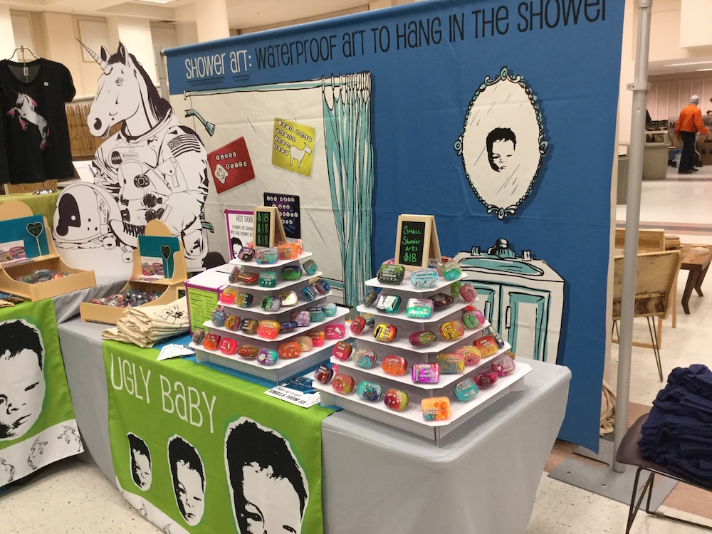 customized booth at a craft show