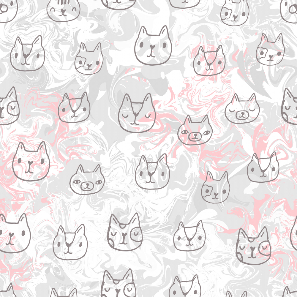 Marble Cats by Kostolom3000 on Spoonflower