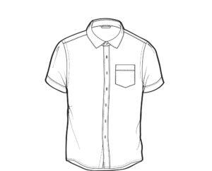 Bawaiian shirt template