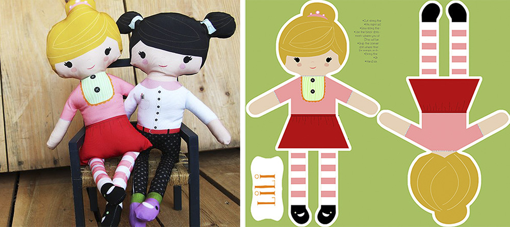 DIY Custom Cut and Sew Fat Quarter Dolls