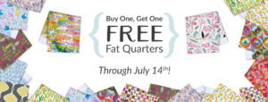BOGO Free Fat Quarters through July 14!