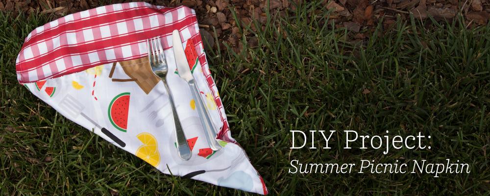 DIY Project: Summer Picnic Napkin