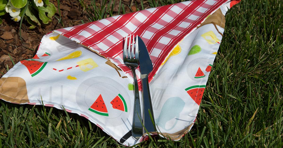 Summer picnic DIY napkin