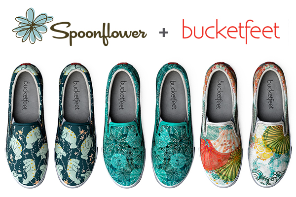 Spoonflower + Bucketfeet shoes