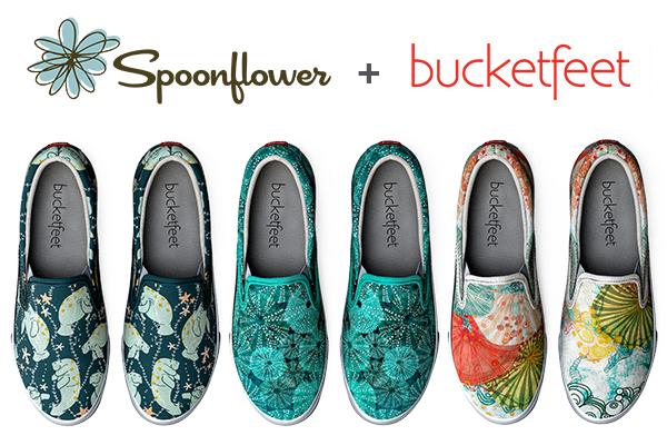 Spoonflower + Bucketfeet shoes