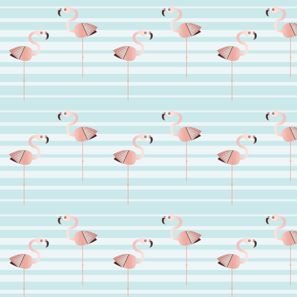 Flamingo Faster (sea stripe blue) by seesawboomerang