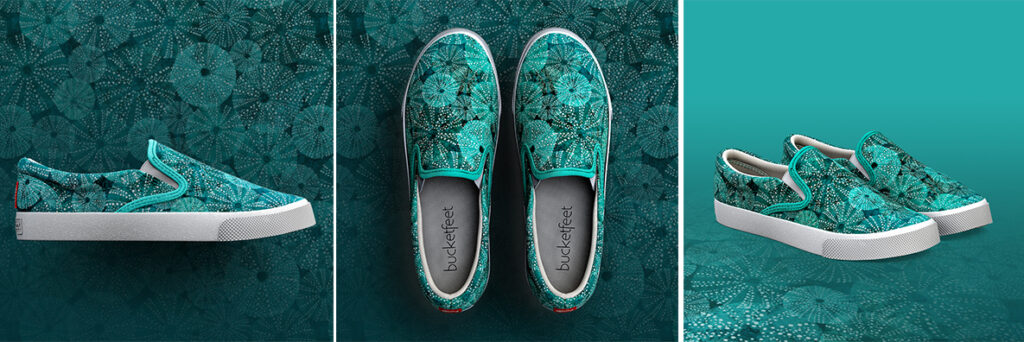 """Under the Water"" shoes by Inga Girvica available for pre-order on Bucketfeet"