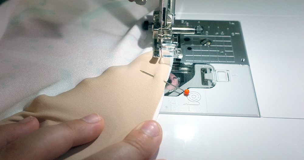 stitching crotch seam
