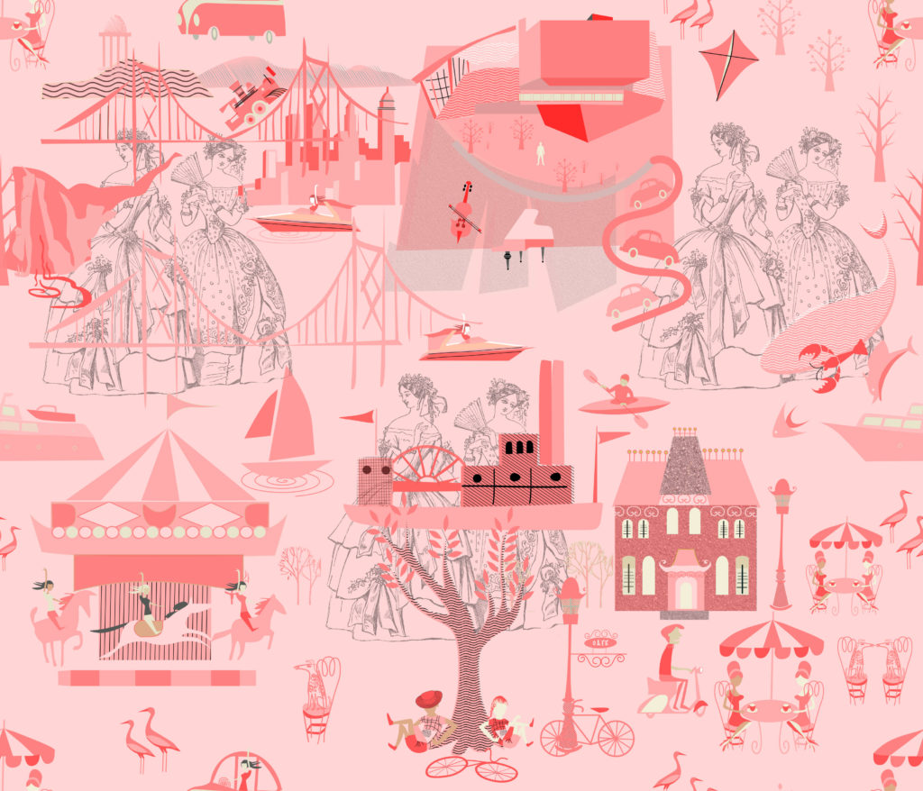 Pink Toile by Chickoteria
