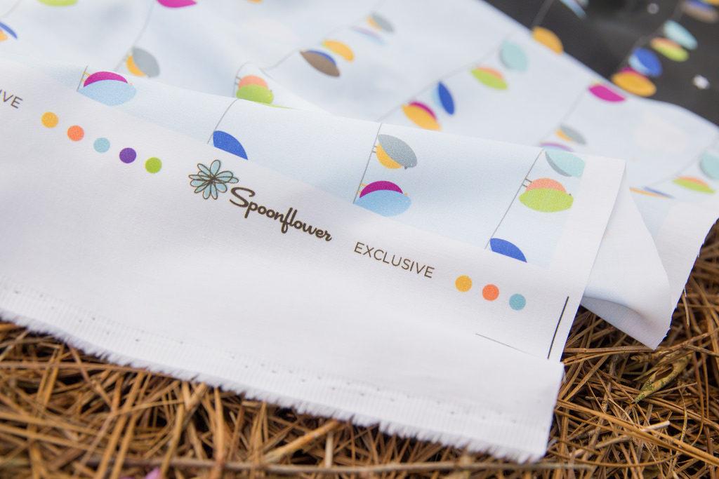 100% organic cotton sateen napkin project