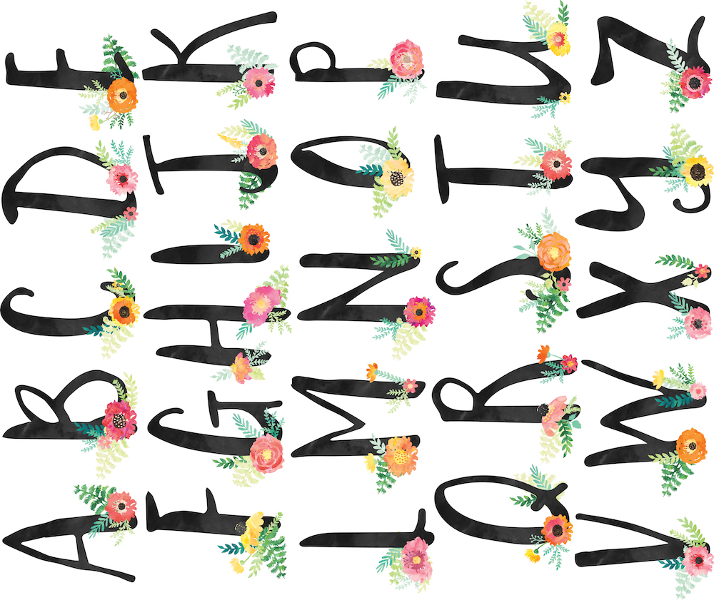 Floral Alphabet by Sunshine Handcraft