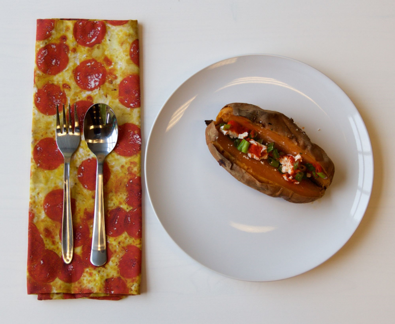 DIY cloth pizza napkins